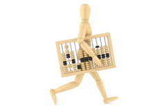 Retro abacus with wooden dummy Stock Photo