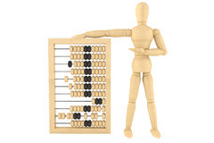 Retro abacus with wooden dummy Stock Photography