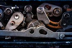 Retro- Abbildung der Weinlese background Gänge von der alten Vorrichtung stockfotografie