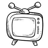 Retro abbozzo della televisione Immagini Stock Libere da Diritti
