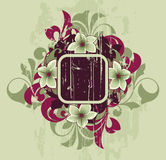 Retro abstract. With decorative elements Stock Photo