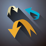 Retro Abstract Arrows Set. On Grey Background vector illustration