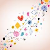 Retro abstract art background. Illustration Stock Photo