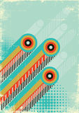 Retro abstract background for design on old paper  Stock Image
