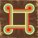 Retro abstract background for design on old paper Royalty Free Stock Photography