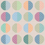 Retro abstract circle seamless pattern vintage texture backgroun Royalty Free Stock Photo