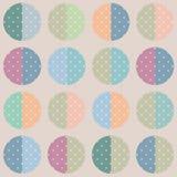 Retro abstract circle seamless pattern vintage texture backgroun Royalty Free Stock Photo