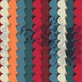 Retro abstract circles. Stock Image
