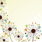 Retro abstract floral backdrop. Royalty Free Stock Photography