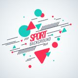 Retro abstract geometric background. The poster with the flat figures. Royalty Free Stock Image