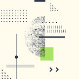 Retro abstract geometric background. The poster with the flat figures. Royalty Free Stock Images