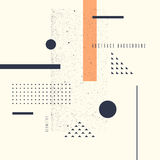 Retro abstract geometric background. The poster with the flat figures. Royalty Free Stock Photos