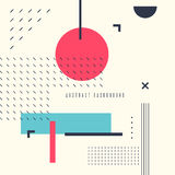 Retro abstract geometric background. The poster with the flat figures. Royalty Free Stock Photo