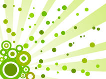 Retro abstract green background Stock Photography