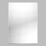 Retro abstract halftone circle pattern background page template design. Vector flyer graphic Stock Image
