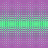Retro abstract halftone dot pattern background - vector design from circles Stock Photography