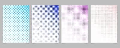 Retro abstract halftone geplaatst de brochuremalplaatje van het puntpatroon - vectorpaginaachtergrond grafische ontwerpen Stock Afbeeldingen