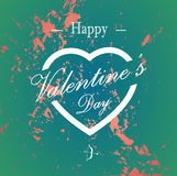 Retro abstract Happy Valentines Day cards with cupid bow and arrow Stock Photography