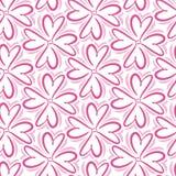 Retro abstract hart naadloos patroon Vectorillustratie voor romantisch nostalgieontwerp Kan voor behang worden gebruikt, vulling  Stock Foto's