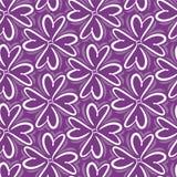 Retro abstract hart naadloos patroon Vectorillustratie voor romantisch nostalgieontwerp Kan voor behang worden gebruikt, vulling  Royalty-vrije Stock Fotografie