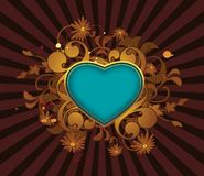 Retro abstract with heart Royalty Free Stock Images