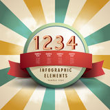 Retro abstract label infographics Stock Photo