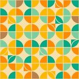Retro abstract naadloos patroon royalty-vrije illustratie