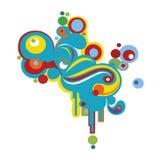 Retro abstract ontwerp Royalty-vrije Stock Afbeeldingen