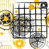Retro abstract patroon royalty-vrije illustratie