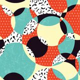 Retro abstract seamless pattern Stock Images