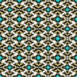 Colored retro abstract seamless pattern in a geometric style classic color with geometric shapes vector illustration for your desi Royalty Free Stock Photo