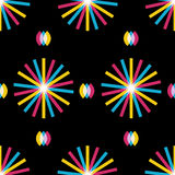 Retro abstract seamless pattern Stock Photography