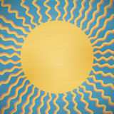 Retro abstract sun background Stock Images