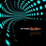 Retro abstract tunnel background Stock Image