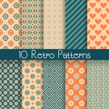 Retro abstract vector seamless patterns Royalty Free Stock Photography