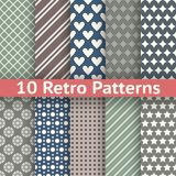 Retro abstract vector seamless patterns Royalty Free Stock Photo