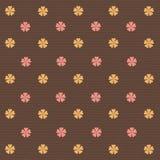 Retro abstracte achtergrond van bloemen stock illustratie