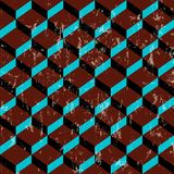 Retro abstracte geometrisch Royalty-vrije Stock Fotografie
