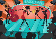Retro Abstracte Jazz Festival Poster Stock Afbeelding