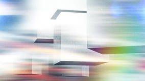 Retro abstracte kubussenkleuren stock videobeelden