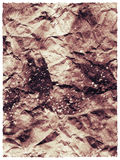 Retro abstraction of crumpled charred paper Stock Image