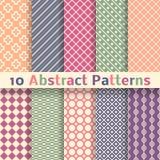 Retro abstrakcjonistyczni wektorowi bezszwowi wzory (taflować). Fotografia Royalty Free