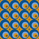 Retro abstrakcjonistyczny bezszwowy wzór Obraz Royalty Free