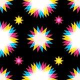 Retro abstrakcjonistyczny bezszwowy wzór Obrazy Stock