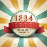 Retro abstrakcjonistyczny etykietki infographics Zdjęcie Stock