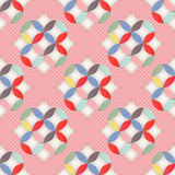 Retro abstrakt seamless mönstrar Arkivbilder