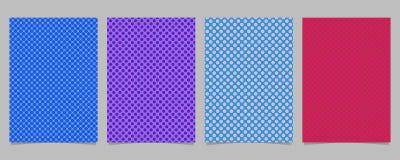 Retro- abstrakte Tupfenbroschüren-Abdeckung Schablone stellte - Briefpapierhintergrunddesigne mit Kreismuster ein Stockfotos