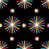Retro abstraktes nahtloses Muster Stockfotografie