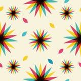 Retro abstraktes nahtloses Muster Lizenzfreie Stockbilder