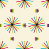 Retro abstraktes nahtloses Muster Stockfoto